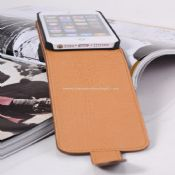 PU leather slim flip case for iphone5 images