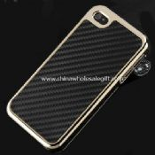 Black-Gold Carbon Fiber Case for iphone4 4S images