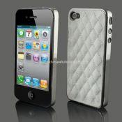 Lujo de cuero cromo para iphone4 4S images
