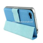 Magnetic Slim Smart Adsorption Stand Holster Case For iPhone4 4S images