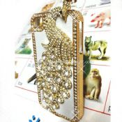 Peacock Bling Diamond Aluminium Hard Case Cover For iPhone4 4S images