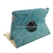 360 rotating magnetic flowers leather smart cover for ipad3 images