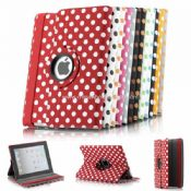polka dots design 360 rotating case for apple ipad 2/3 images