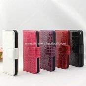 iPhone5 crocodile flip leather case with credit card slot images