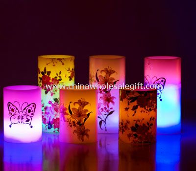 Led Decal Candle