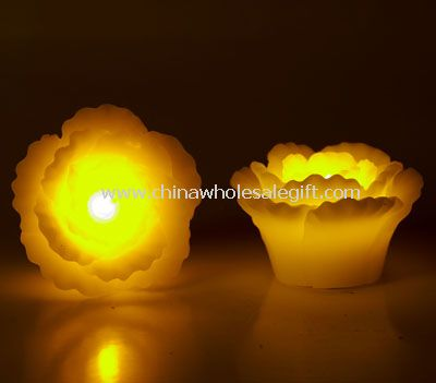 Led flower shape wax Candle