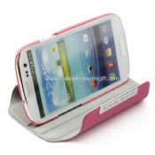 Rotating Leather Case With Stand Combo for Samsung Galaxy s3 i9300 images