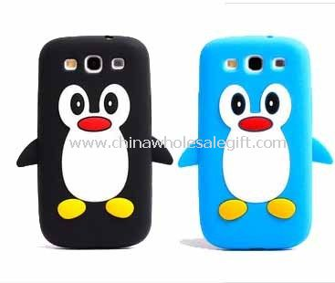 Penguin Silicone Soft Back Case For Samsung Galaxy S3 i9300