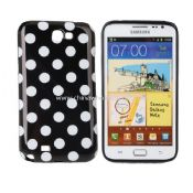 Polka Dots Soft TPU Gel Case for Samsung Galaxy Note2 images
