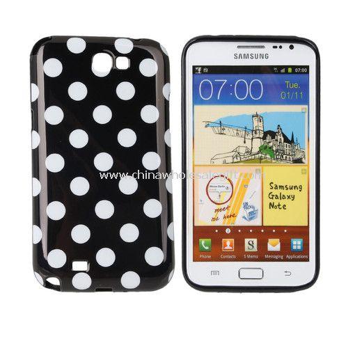 Polka Dots Soft TPU Gel Case for Samsung Galaxy Note2