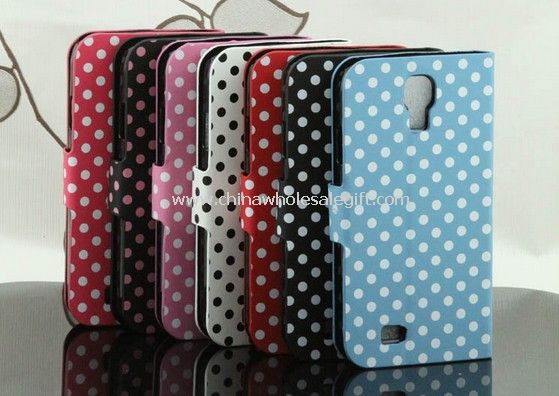 Leather Case Cover Polka Dot Wallet Card For Samsung Galaxy S4 i9500