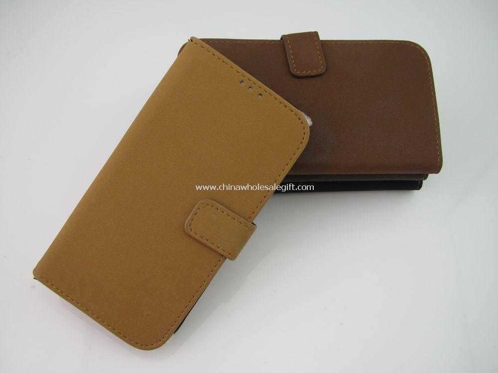 Retro Vintage Design Credit Wallet Leather Case For Samsung Galaxy S4