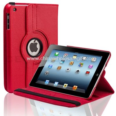 360 rotating PU leather case with stand for ipad mini
