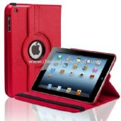 360 rotating PU leather case with stand for ipad mini images