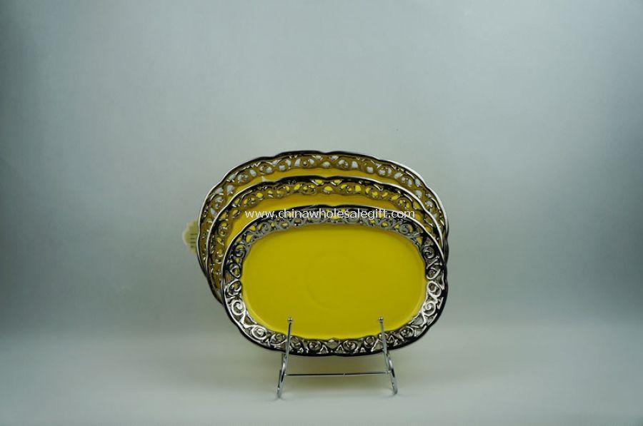 3PCS Ceramic Fruit Bowl