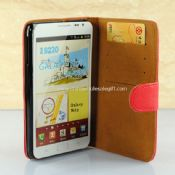 Red Foldable Leather Case For Samsung Galaxy Note I9220 images