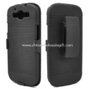 ribbed hard case with belt clip holster kickstand for samsung galaxy s3 i9300 images