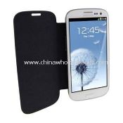 Black Flip Cover Leather Case For Samsung Galaxy S3 i9300 images