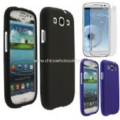 Rubber hard cover+LCD Guard For Samsung Galaxy S3 images