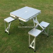 Metal Folding table with Benches images