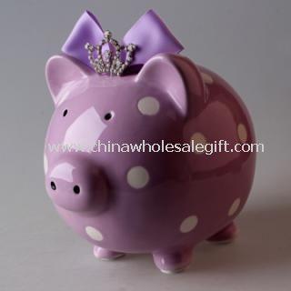 Princess Pig Ceramic Piggy Bank