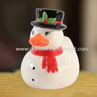 Christmas duck piggy bank
