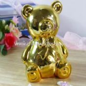 Golden Plated Bear Bank images