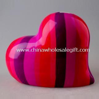 Heart Design Ceramic Gift Money Box