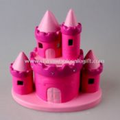 Ceramic Hot Pink Castle Money Bank images