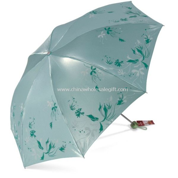Foldable Umbrella with Flower