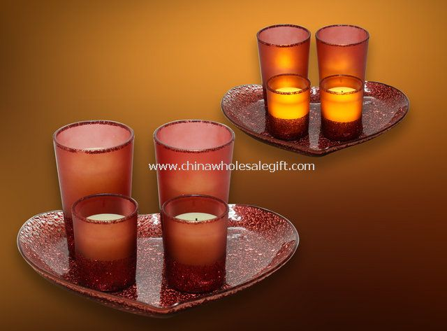 LED Candle with Mosaic Glass