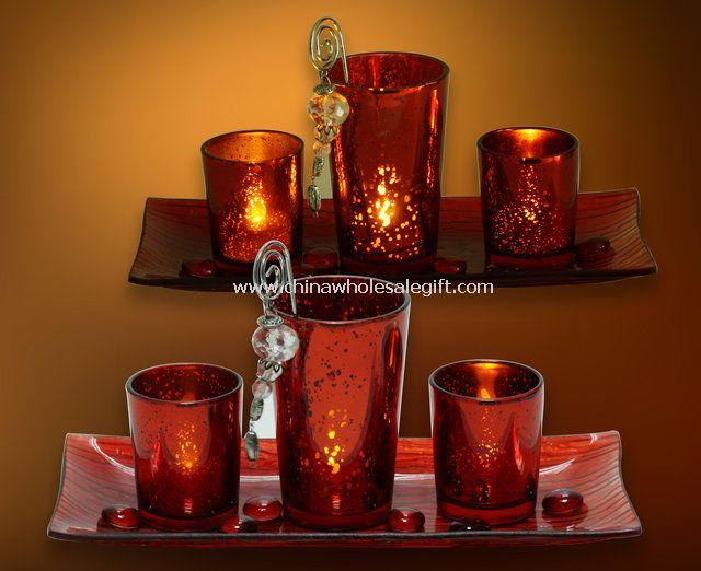 Mosaic Glass Candle