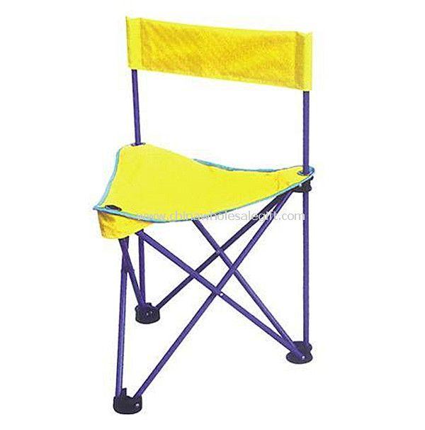 Yellow Lightweight Folding Fishing Chair