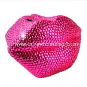 Crystal Piggy Bank Pink Color Mouth Shape images