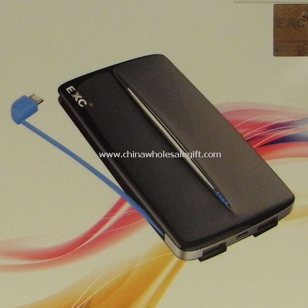 5000mA power bank with Micro USB jack dual USB output