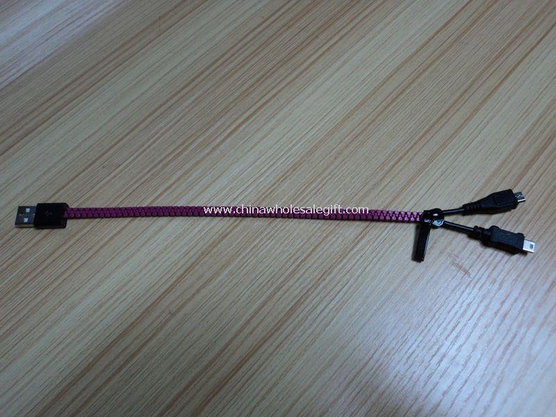 Zip USB datový kabel pro mobilní telefony
