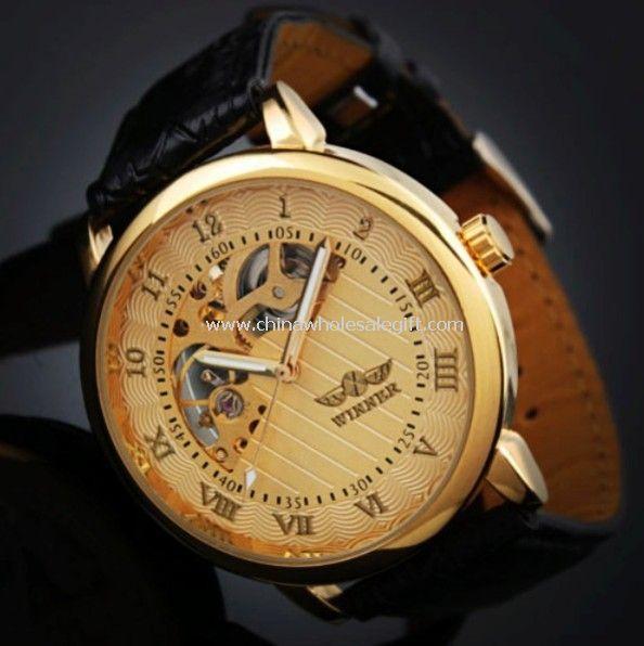 Golden Roma number mechanical watch