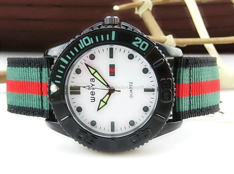 Rope band sports watch