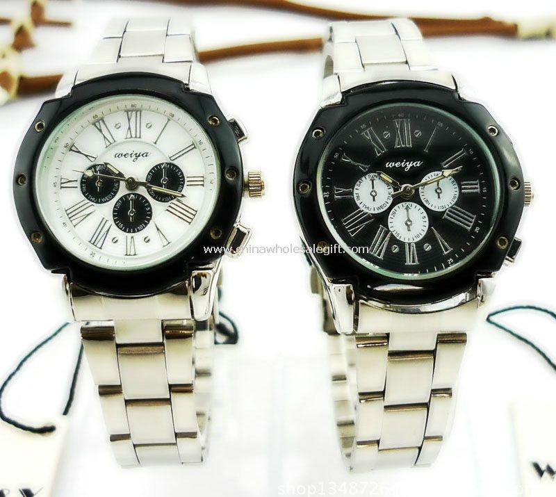 Stainless steel lover watch