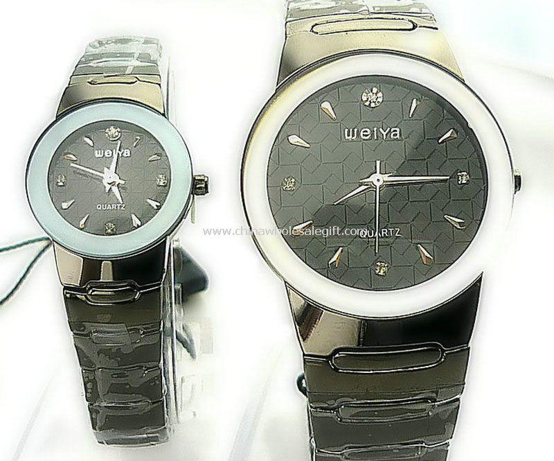 Black white lover watch