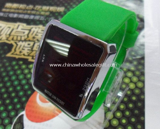 Silicone band led watch