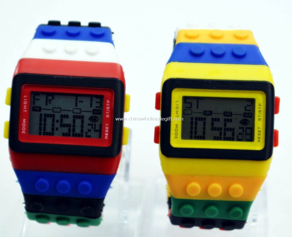 Silicone rainbow watch