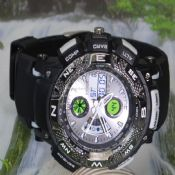 Double movement sports watch images