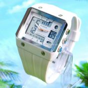 Waterproof double movement sports watch images