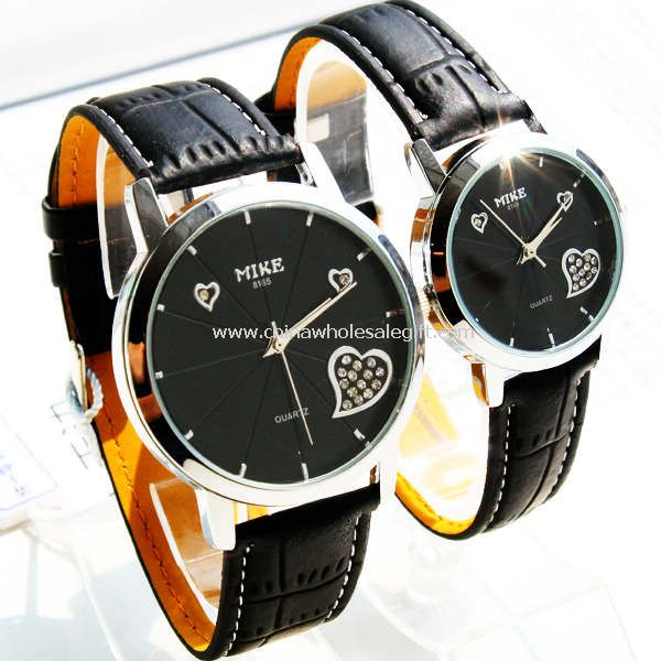 Lover watch with diamond heart