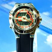 Waterproof double movement watch images