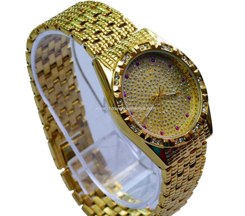 Golden Quartz watch