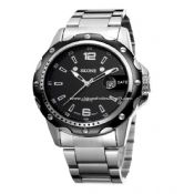 Stainless steel men watch with date images