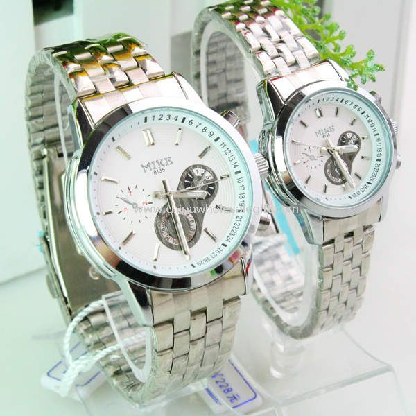 Stainless steel band lover watch