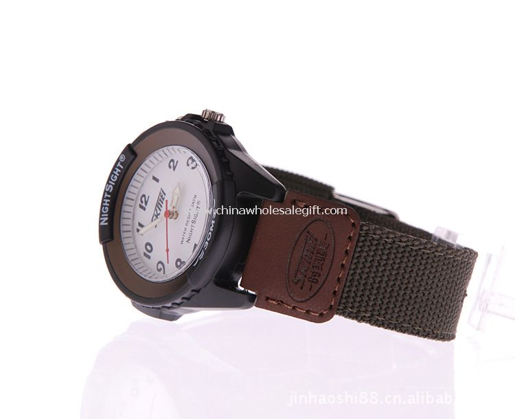 Student watch with night light